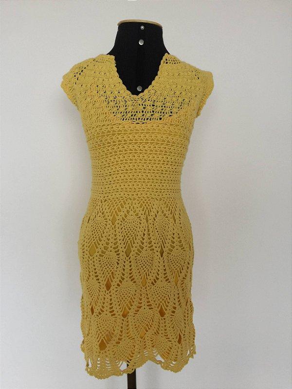 Vestido crochê amarelo (PP) - IS/Bella