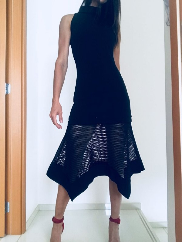 Vestido preto gola alta (P) - Iorane
