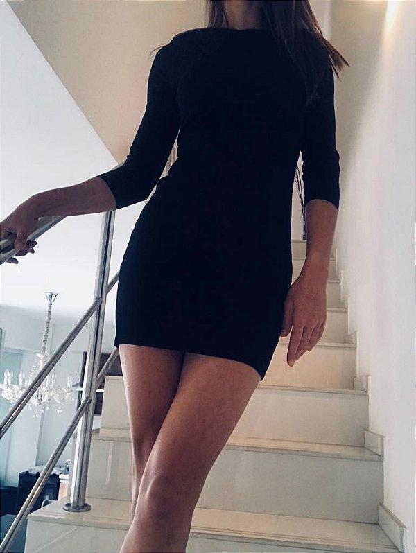 Vestido preto manga longa (PP) - Armani