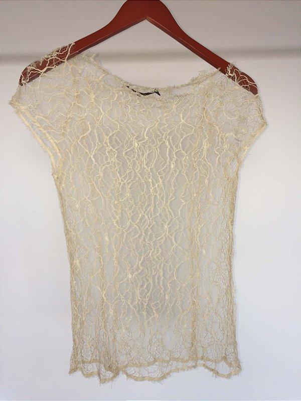 Blusa off white (36) - Animale