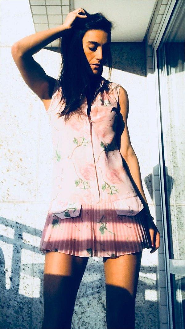 Vestido floral - Mixed