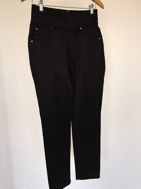 Calça preta cintura elástico (42) - DBZ