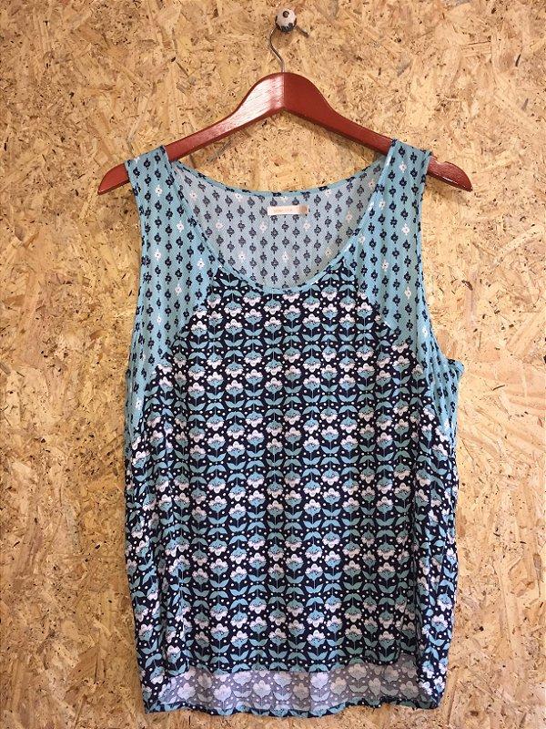 Camiseta azul (G) - Maria Filó