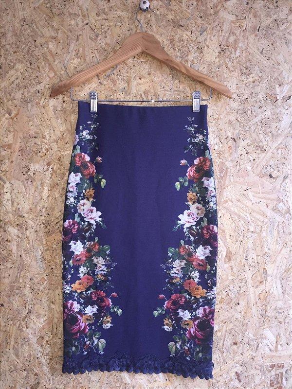 Saia lápis estampa floral - Zara