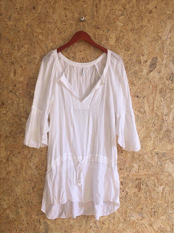 Bata branca beachwear (M) - VIX