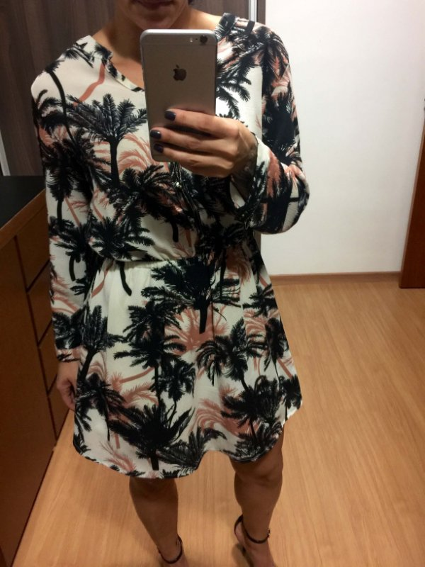 Vestido manga longa (M)