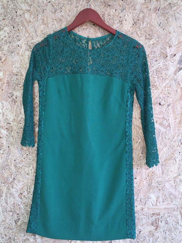 Vestido verde renda (34) - Mixed