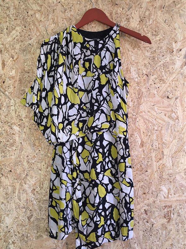 Vestido amarelo e preto (P) - Robert Rodriguez