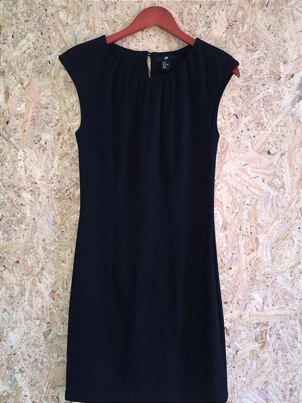 Vestido midi preto (M) - H&M