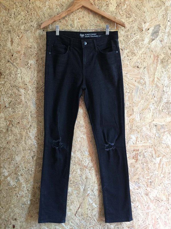 Calça black jeans (38) - GAP