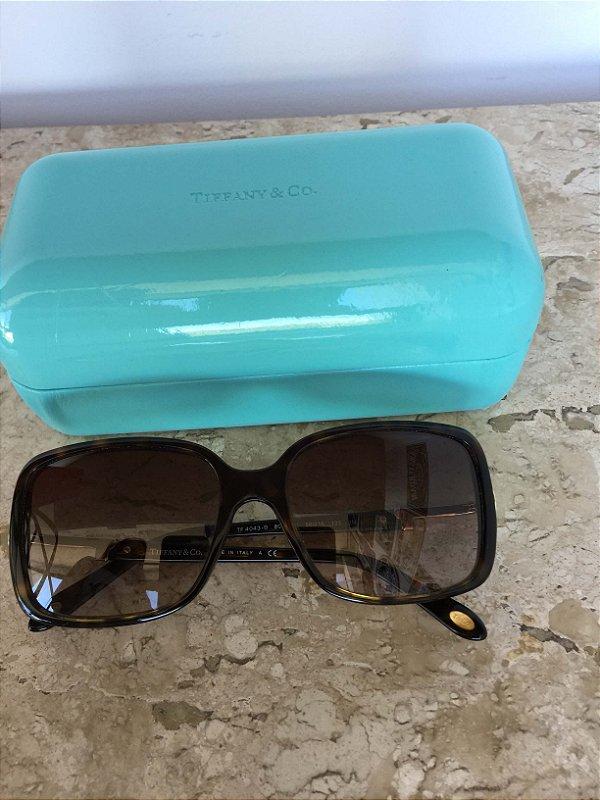 Óculos de sol quadrado haste chave  - Tiffany&Co