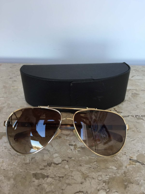 Óculos metal marrom - Prada