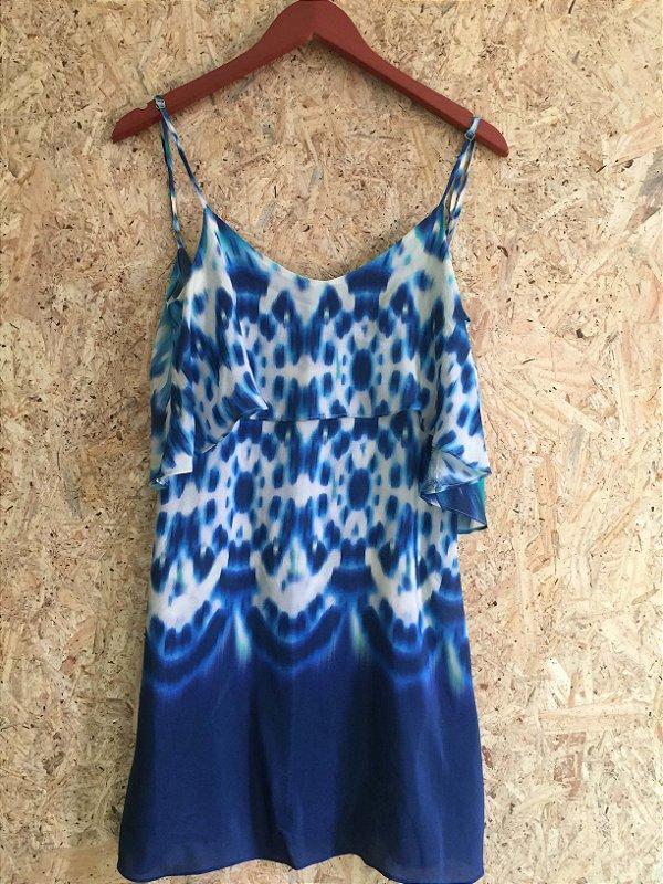 Vestido seda decote costas (P) - VIX