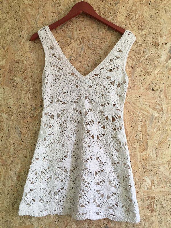 Vestido algodão renda (P) - Flávia Padovan