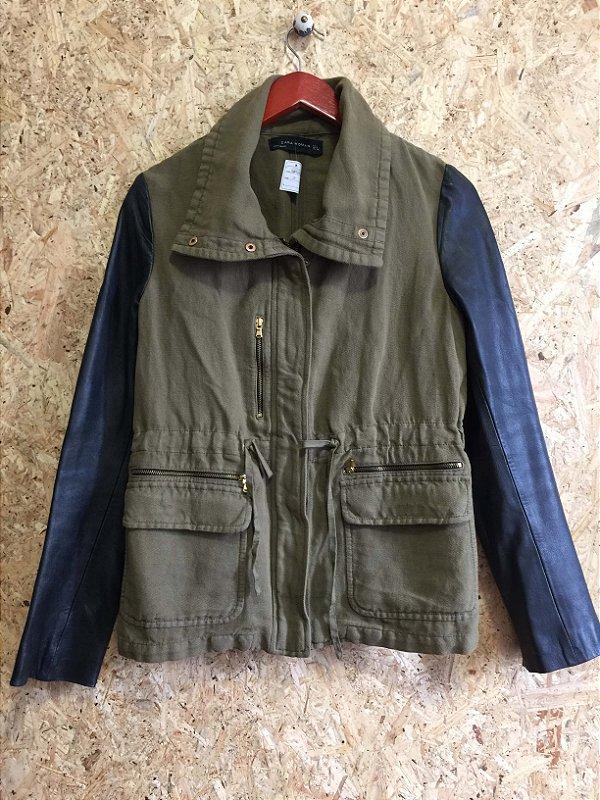 Jaqueta verde militar (G) - Zara