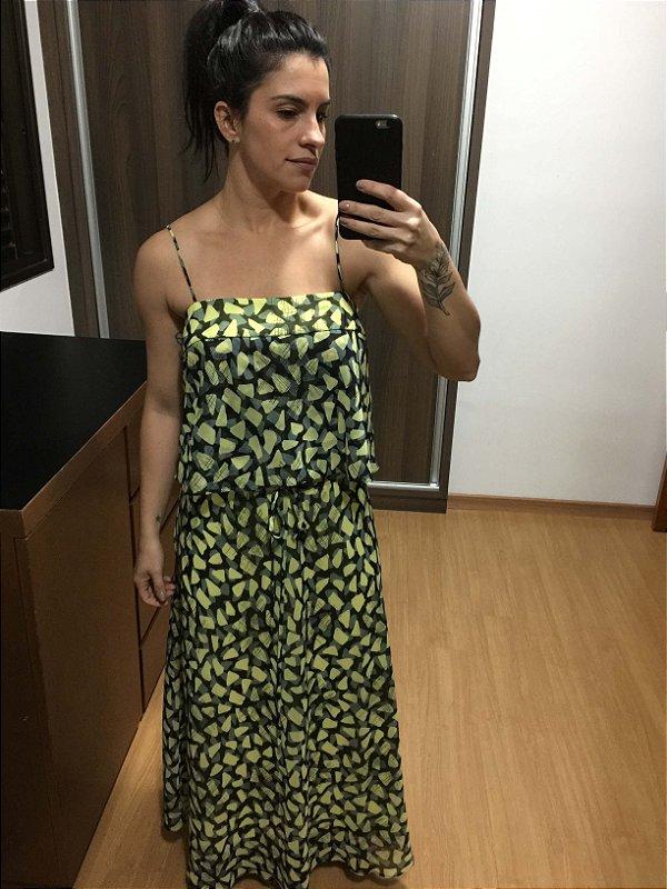 Vestido alça estampa (38) - Madreperola