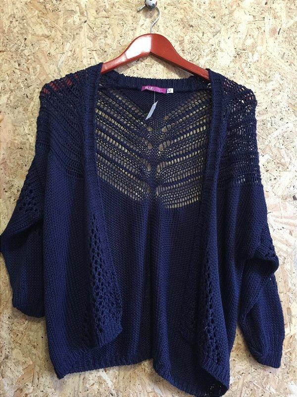 Casaco tricot azul (U)