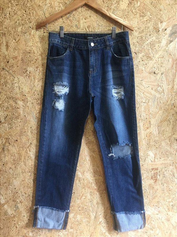 Calça jeans barra virada (40) - Amaro