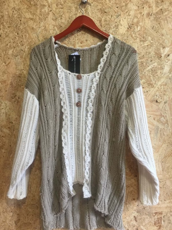 Blusa lã bicolor (U)
