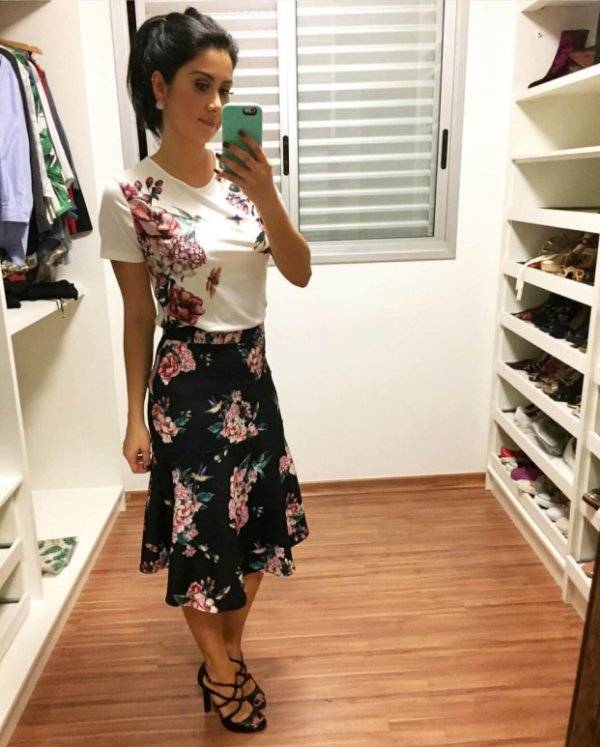 Blusa malha (M) - Camila Coelho para Riachuelo