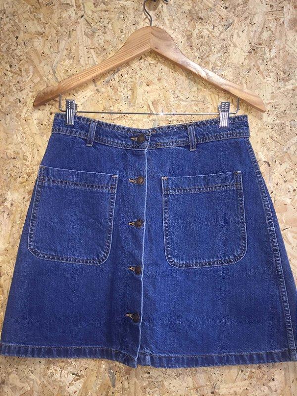Saia jeans botões (M) - Zara