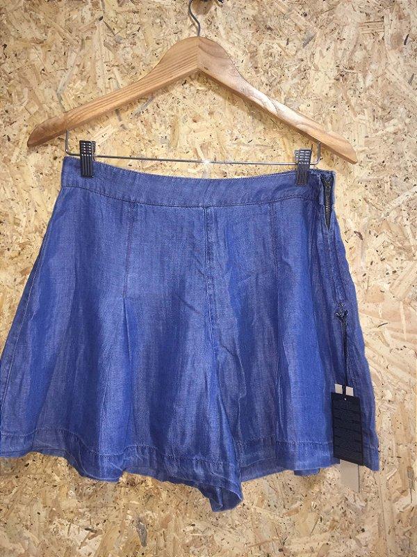 Short saia azul jeans (M) - Forever 21