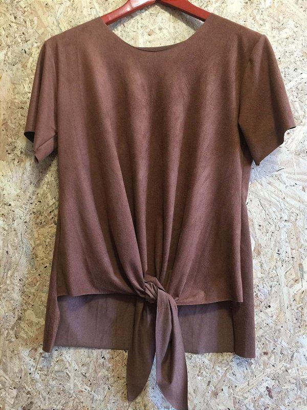 Blusa nozinho chamois marrom (M)