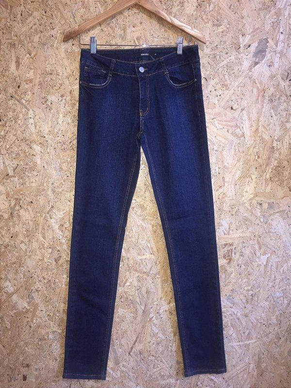 Calça jeans escuro (40) - Amaro