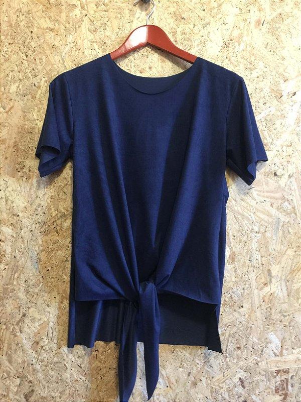 Blusa nozinho azul suede (M)