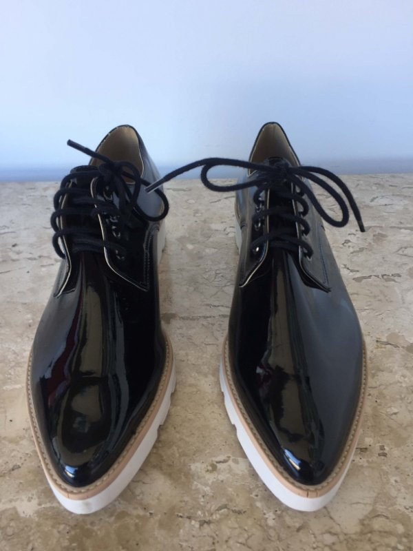 Sapato oxford preto verniz (37)