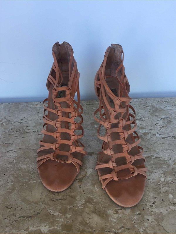 Sandália rosê tiras (37) - Shoestock