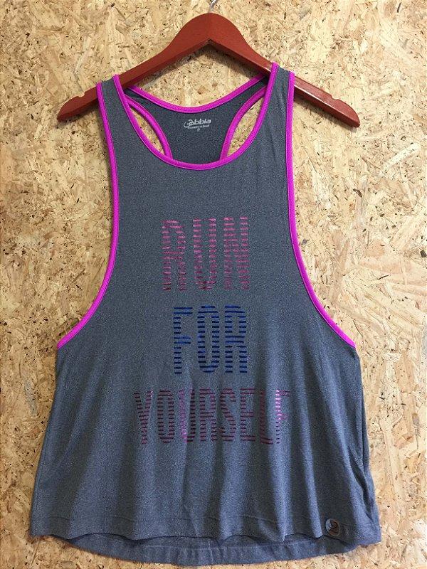 Camiseta fitness cinza (P)