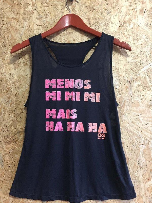 Camiseta fitness preta (M)