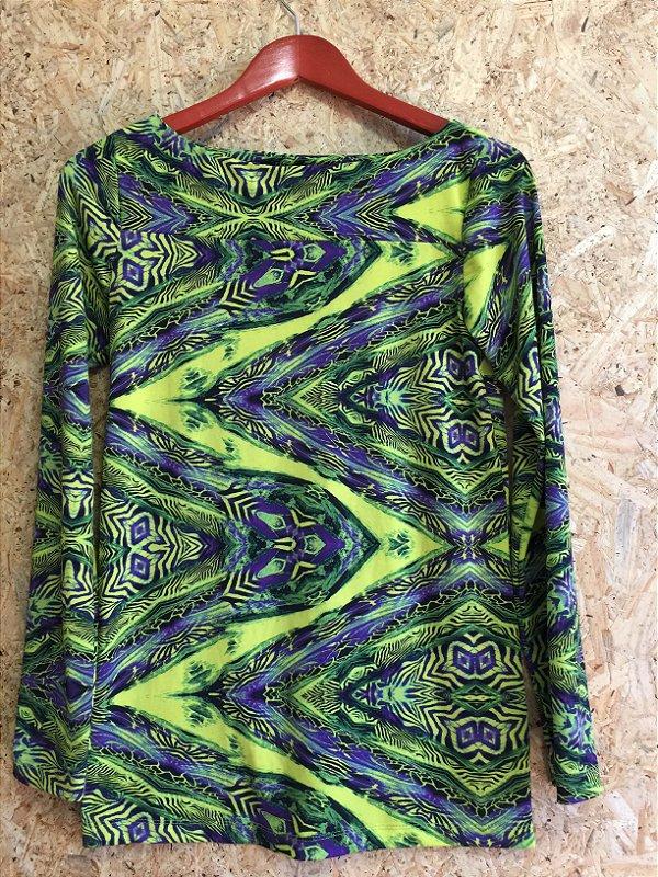 Blusa manga longa estampa (P) - Iorane