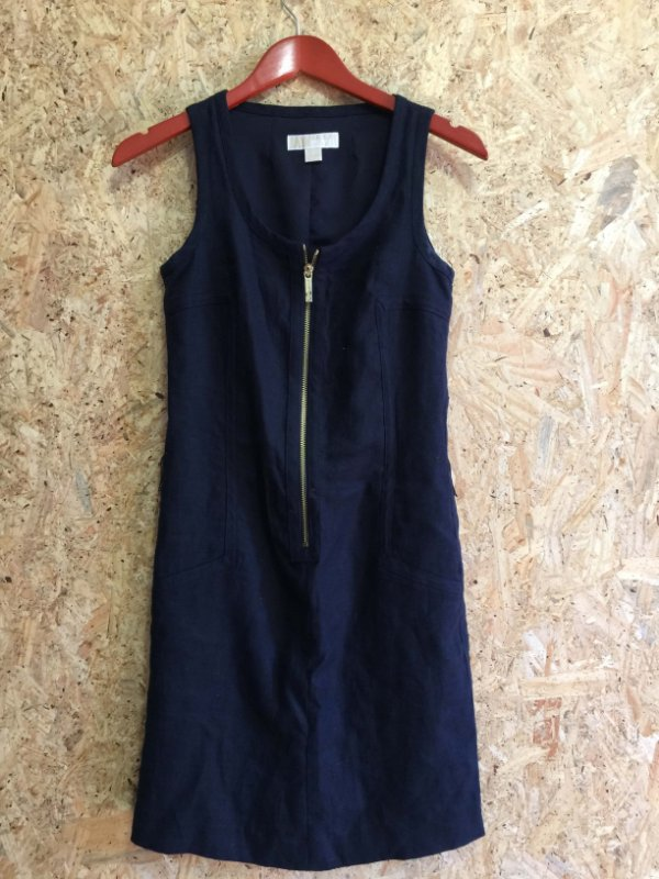 Vestido azul linho (P) - Michale Kors