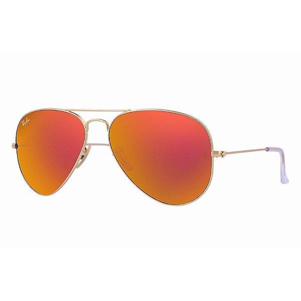 Óculos espelhado vermelho - Ray Ban