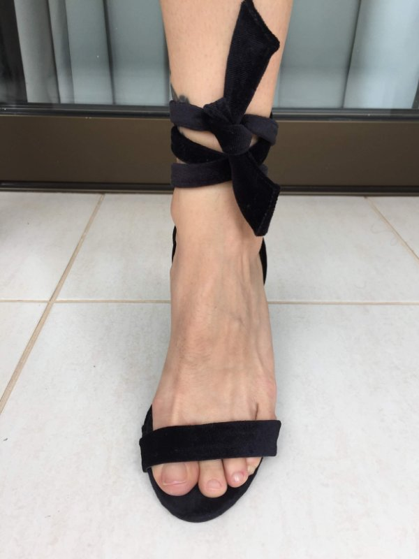 Sandália preta (37) - Amaro