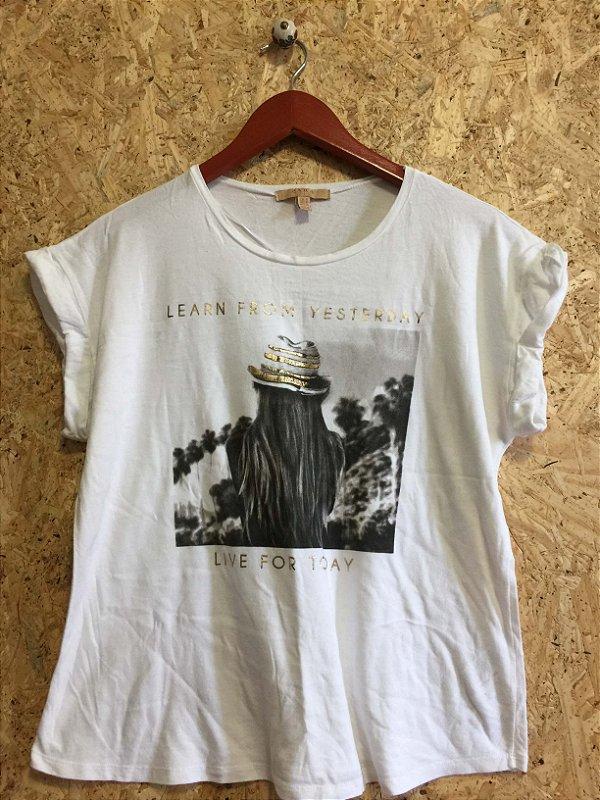 Camisa malha manguinha dobrada (M) - Zara
