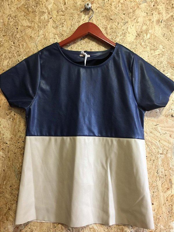 Blusa bicolor (M) - Quintess