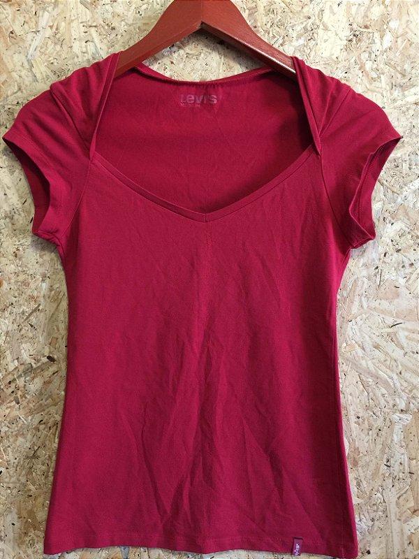 Blusa malha vermelha (M) - Levi's