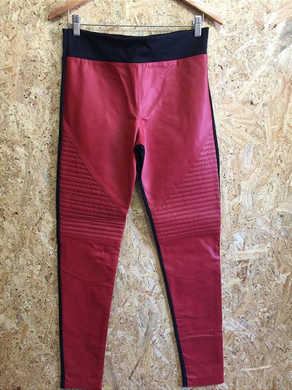 Calça couro vermelha (42) - Uzee