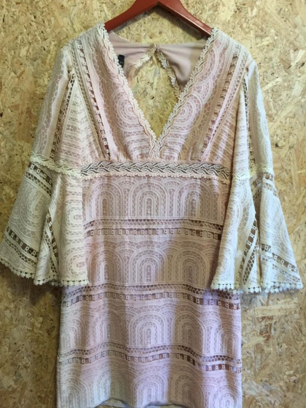 Vestido rosê manga flare (42) - LN
