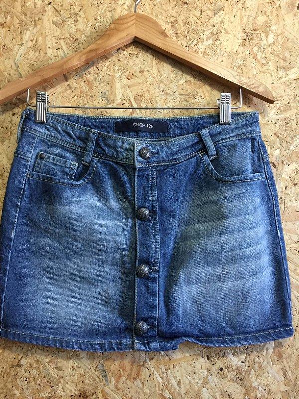 Saia jeans botões (36) - Shop 126