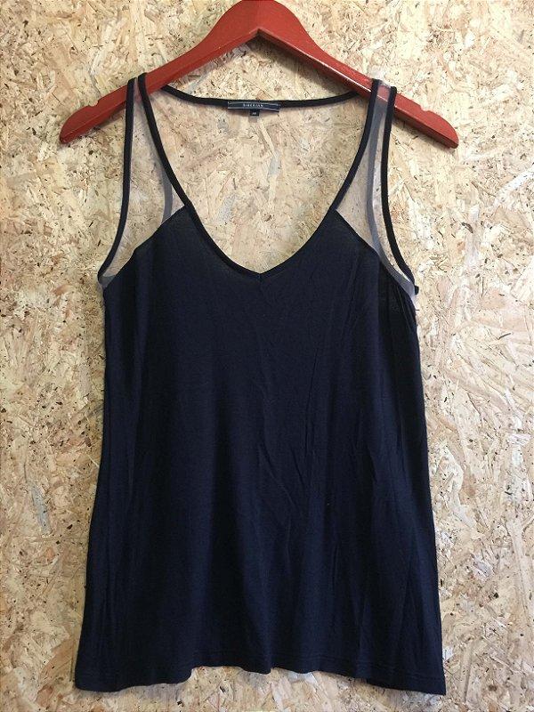 Camiseta malha e tule preta (PP) - Siberian
