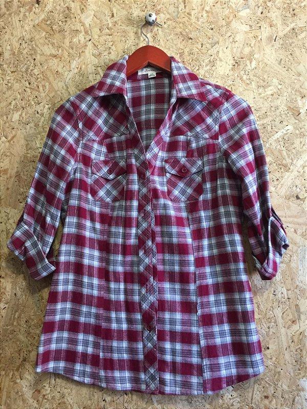 Camisa xadrez vermelha (M) - Forever 21