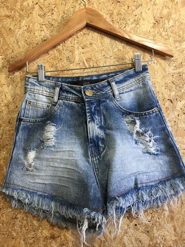 Short jeans cintura alta (36)