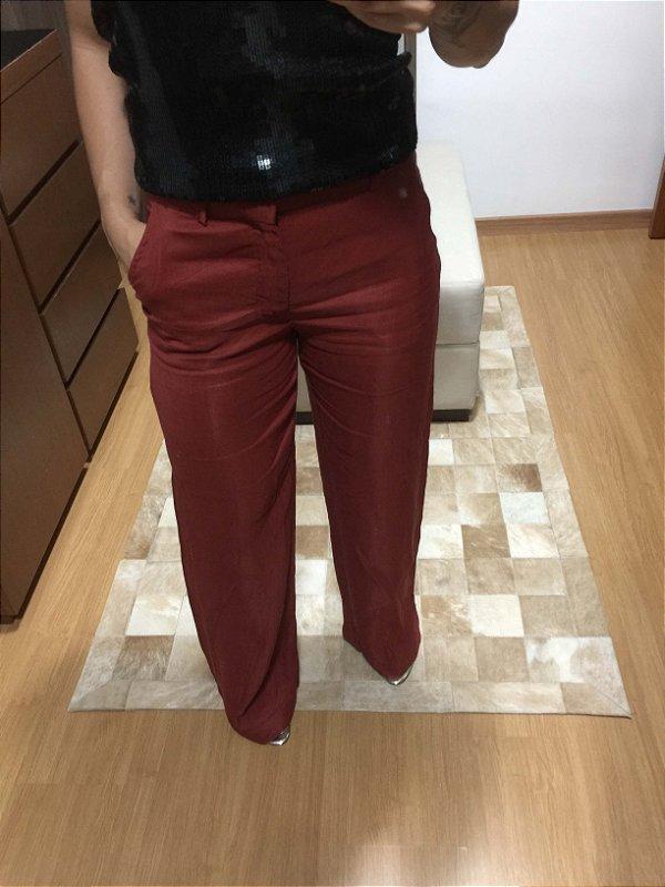 Calça pantalona (P) - Zara