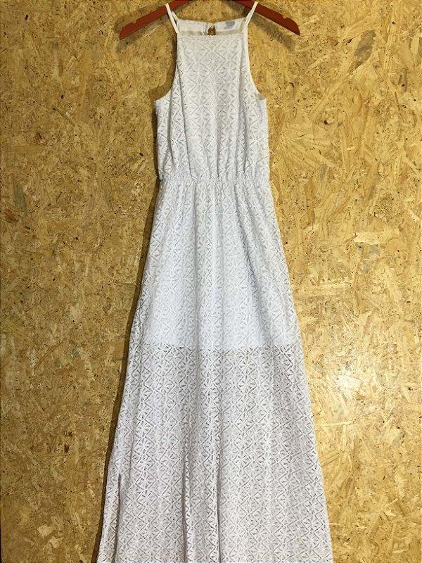 Vestido longo branco (P) - Hering