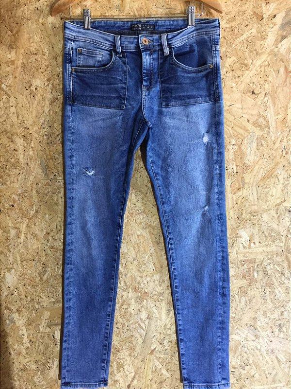Calça jeans bolso quadrado (40) - Zara