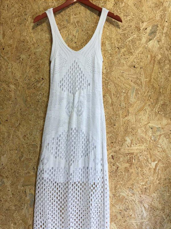 Vestido longo branco (P) - Quintess